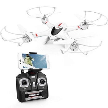 5. DBPOWER X400W FPV RC Quadcopter Drone