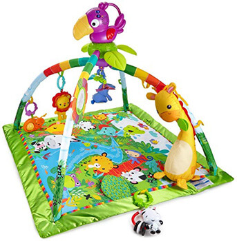 8. Fisher-Price Rainforest Music & Lights Deluxe Gym