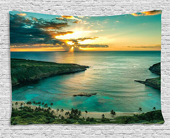 5. Ambesonne Hawaiian Decor Tapestry