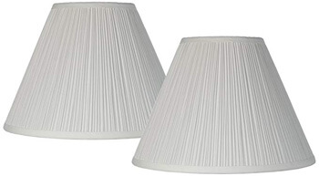 1. Brentwood Antique White Lamp Shades, 2-Set