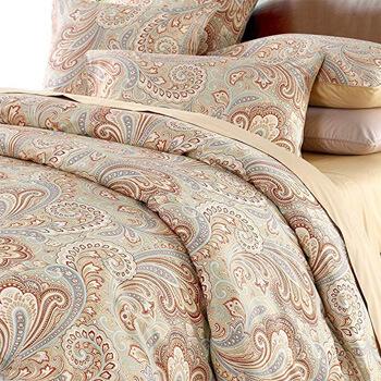 9. Duvet Cover Set Paisley Bedding Design 800 Thread Count