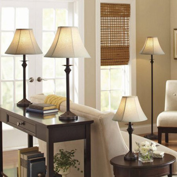 4. Better Home & Gardens Lamp Set of Four