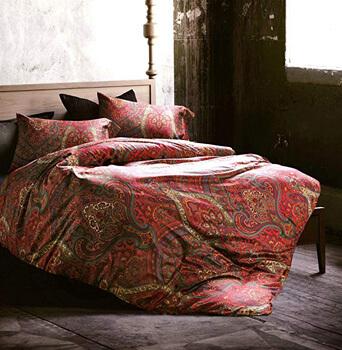 10. Boho Paisley Print Luxury Duvet Quilt Cover and Shams 3pc Bedding Set