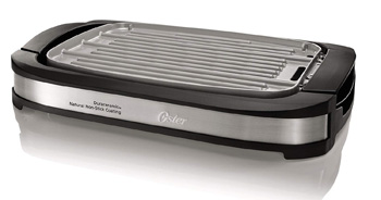 10. Oster Titanium Infused DuraCeramic Reversible Grill