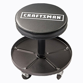 7. Craftsman Adjustable Pneumatic Mechanics Swivel Seat