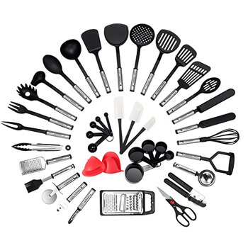 8. NexGadget Premium Kitchen Utensils 38 Pieces Kitchen Utensils Sets