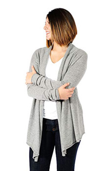 5. Gigi Reaume 100% Cashmere Soft Womens Cardigan Sweater