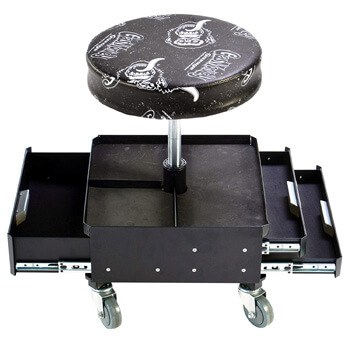 5. Gas Monkey Pneumatic Garage Seat with Toolbox