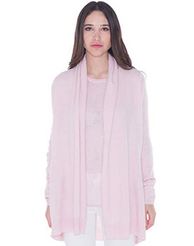 4. cashmere 4 U 100% Cashmere Open Front Cardigan Coat for Women