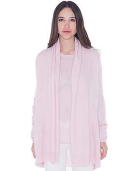 4. cashmere 4 U 100% Cashmere Open Front Cardigan Coat for Women