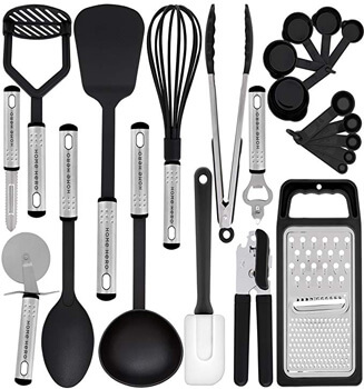 1. Kitchen Utensil Set - 23 Nylon Cooking Utensils