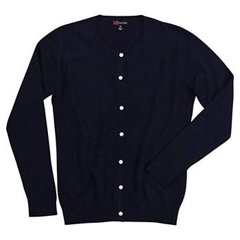 3. Urban Boundaries Women's 100% Cashmere Crew Neck Cardigan Sweater