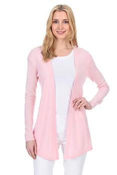 10. State Fusio Women's Wool Cashmere Soft Shaker-Stitch Open Cardigan