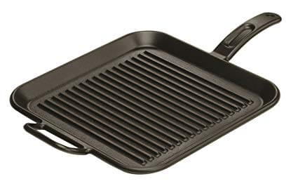 4. Lodge 12 Inch Square Cast Iron Grill Pan