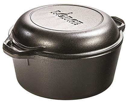 5. Lodge L8DD3 Cast Iron Dutch Oven