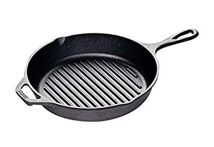 6. Lodge L8GP3 Cast Iron Grill Pan