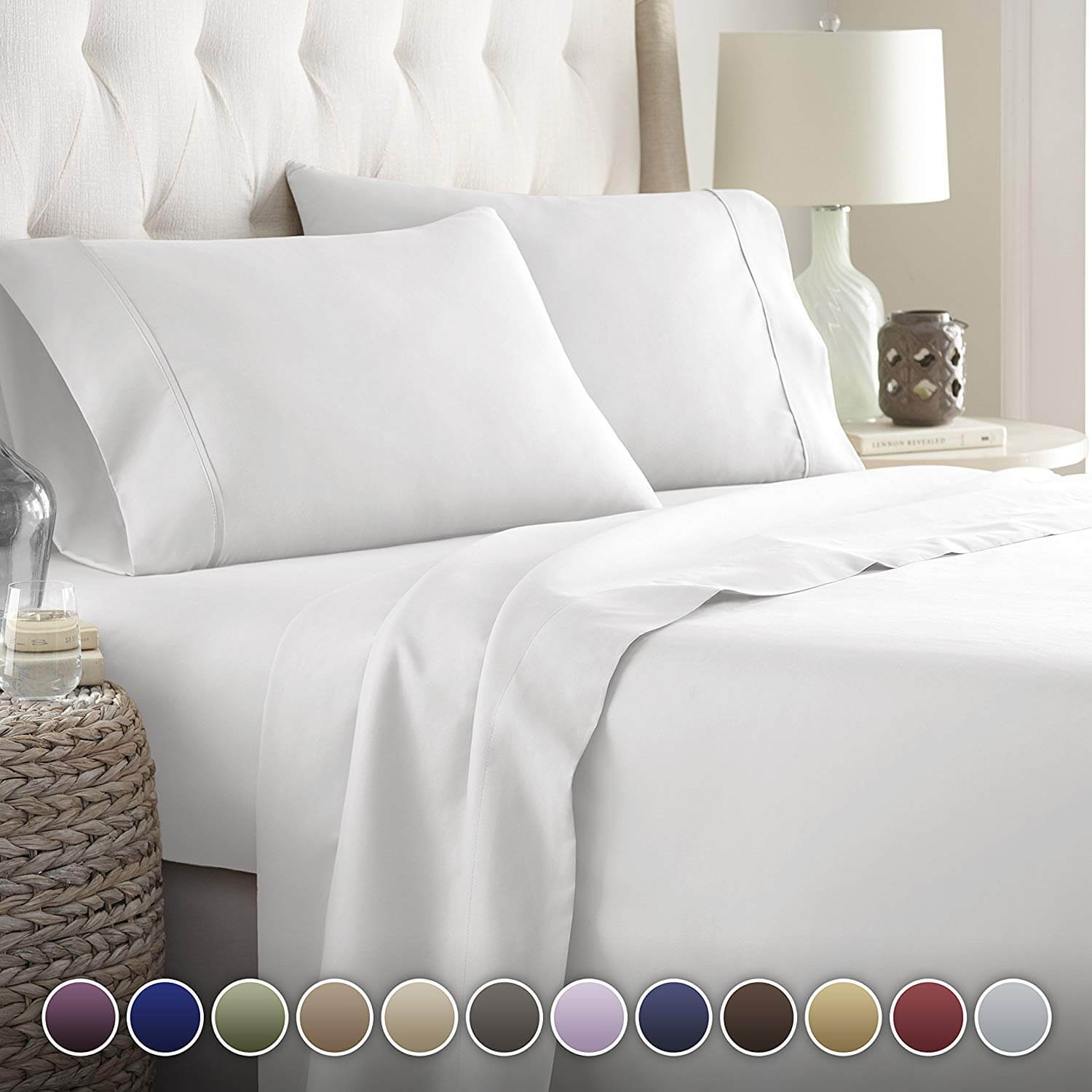 10. Hotel Luxury Bed Sheets Set- 1800 Series