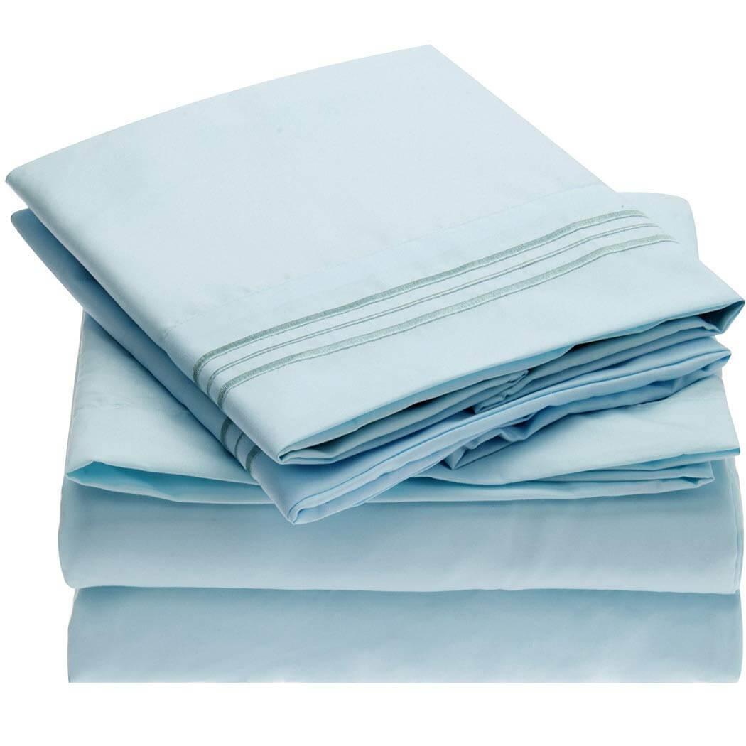 1. Mellanni Bed Sheet Set Brushed Microfiber 1800 Bedding