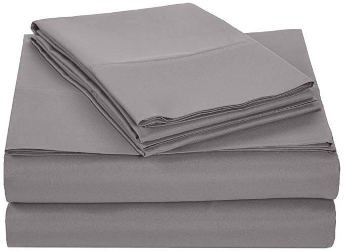 2. AmazonBasics Microfiber Sheet Set - King