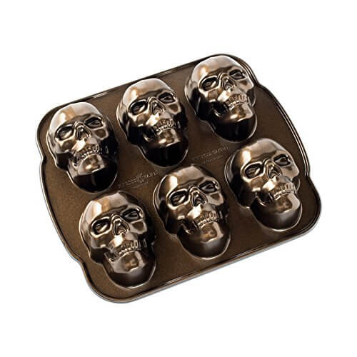 2. Nordic Ware Haunted Skull Cakelet Pan