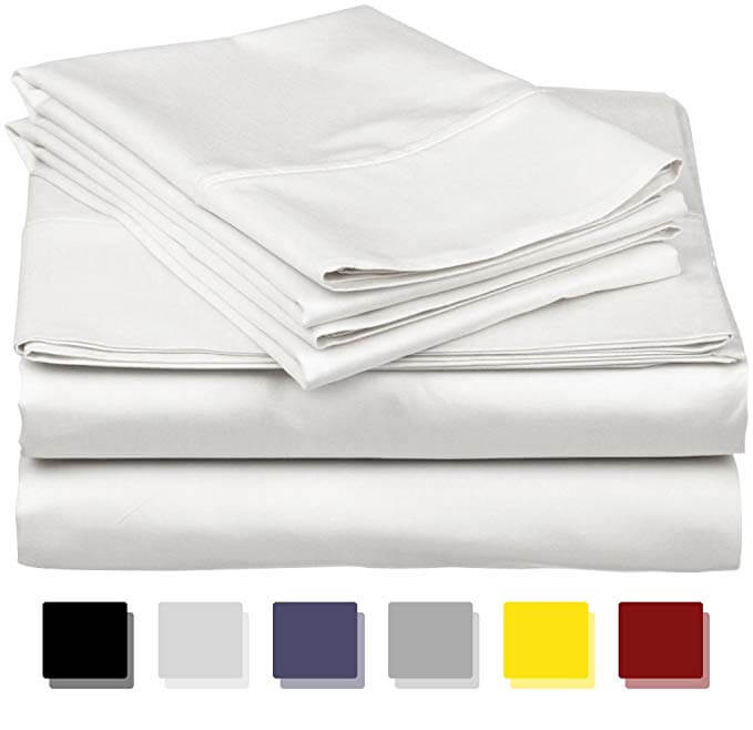 7. True Luxury 1000-Thread-Count 100% Egyptian Cotton Bed Sheets