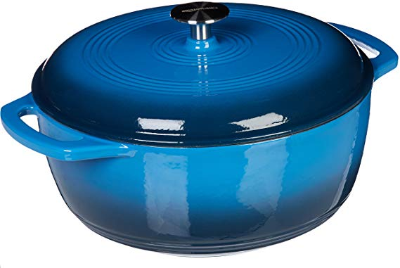 3. AmazonBasics Enameled Cast Iron Dutch Oven