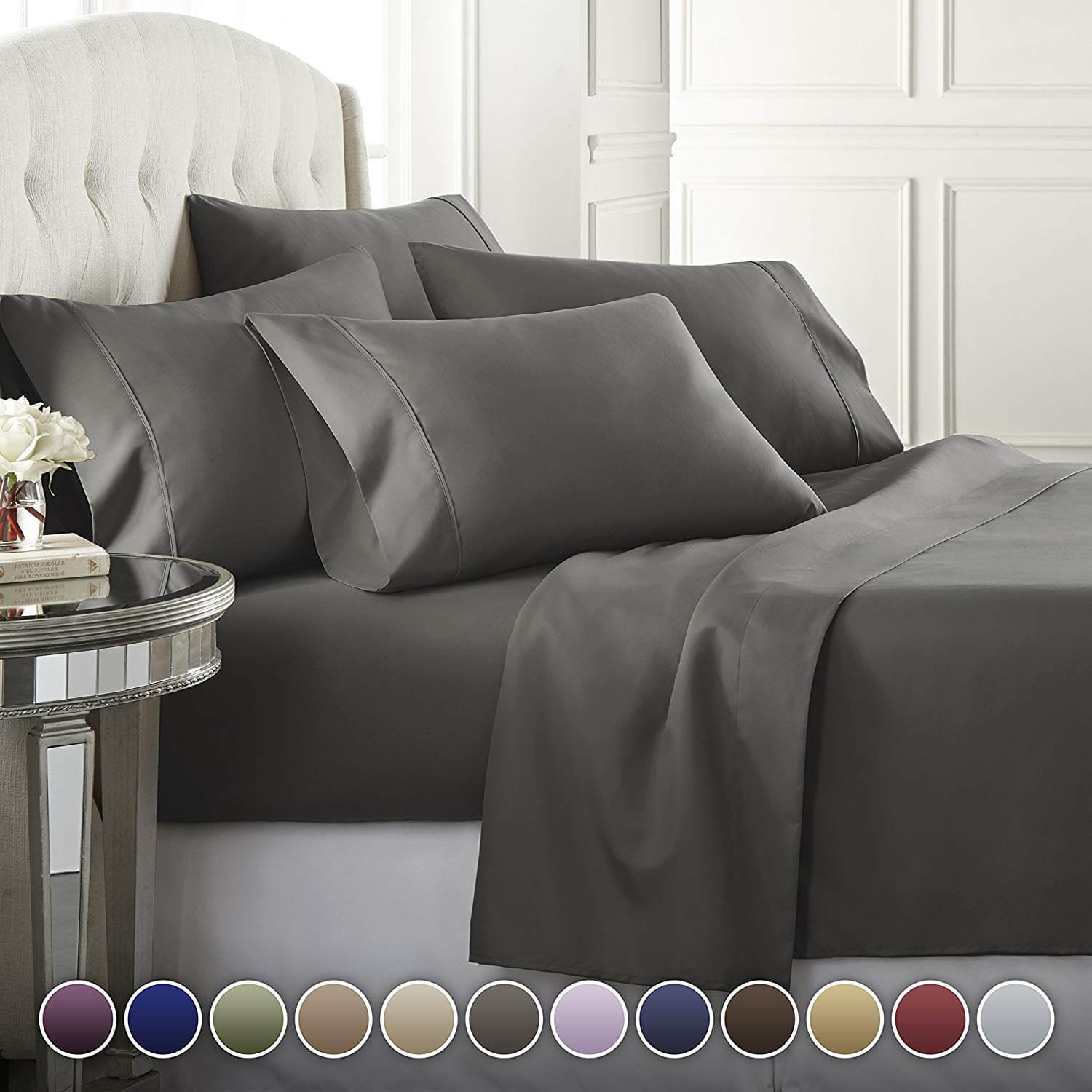 6. 6 Piece Hotel Luxury Soft 1800 Series Premium Bed Sheets Set