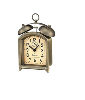 9. Bulova B8128 Holgate Alarm Collection Clock
