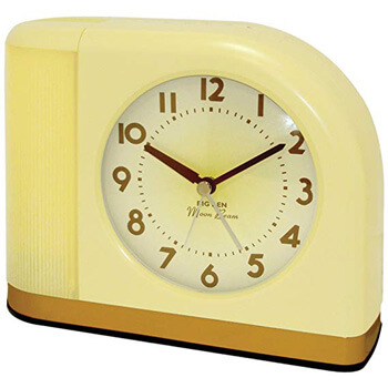 1. Westclox 43000X 1950s Moonbeam Clock with Lighted Dial