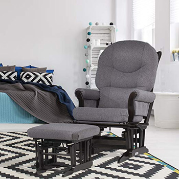 6. Dutailier Sleigh Glider-Multiposition, Recline and Ottoman Combo