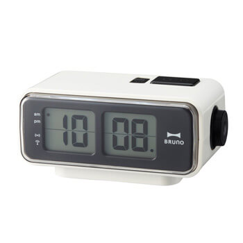 8. Retro Digital Flip Desk Alarm Clock White