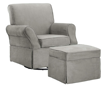 10. Baby Relax The Kelcie Nursery Swivel Glider Chair and Ottoman Set