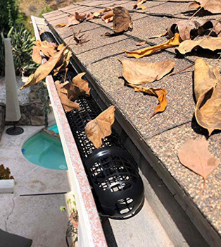 3. 10 Gutter Cups Gutter Guards - 15 Feet Long - Best Gutter Screen Protection - DIY Gutter Guard