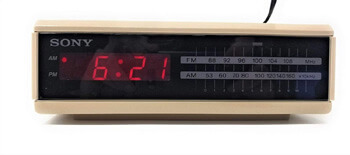 7. Sony Dream Machine Fm/am Digital Alarm Clock Radio Tan Vintage Retro