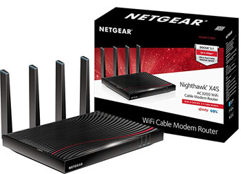 9. NETGEAR Nighthawk X4S DOCSIS 3.1 Ultra-High Speed Wifi Cable Modem Router Combo