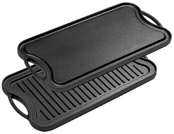 8. Bruntmor, Pre-Seasoned Cast Iron Reversible Grill