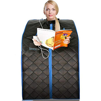 7. SereneLife Portable Infrared Home Spa | One Person Sauna | Heating Foot Pad and Chair