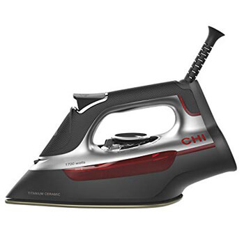 4.CHI (13101) Steam Iron With Titanium Infused Ceramic Soleplate & Over 300 Steam Holes, Professional Grade (13101)