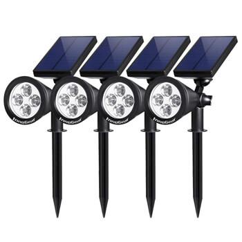1. InnoGear Upgraded Solar Lights 2-in-1