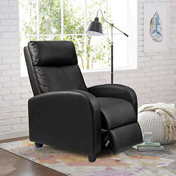 2. Homall Single Recliner Chair Padded Seat