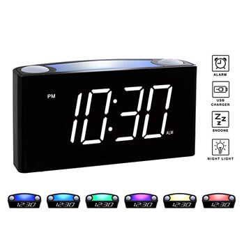 5. Rocam Digital Alarm Clock for Bedrooms