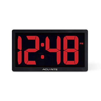 9. AcuRite 75099M 10-inch LED Digital Clock with Auto Dimming Brightness