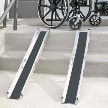 5: MABIS DMI Healthcare DMI Portable Wheelchair Ramp