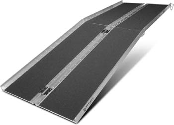 6: Titan Ramps 8' ft. Aluminum Multifold Wheelchair Scooter Mobility Ramp portable 96