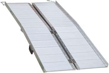 8: HOMCOM Portable Textured Aluminum Folding Wheelchair Threshold Ramp, 6'