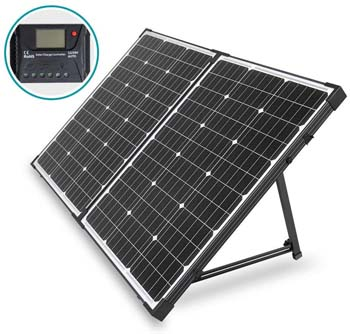 7: HQST 100 Watt 12 Volt off Grid Monocrystalline Portable Folding Solar Panel Suitcase
