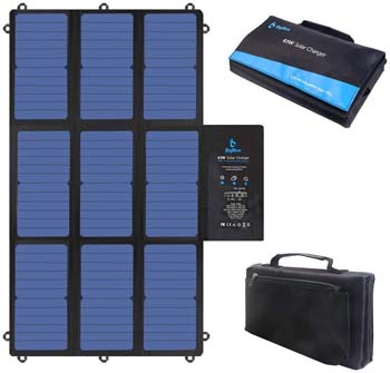 8: BigBlue 63W Foldable Solar Charger Portable SunPower Solar Panel