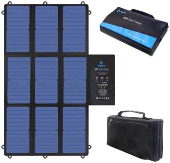 8: BigBlue 63W Foldable Solar Charger Portable SunPower Solar Panel