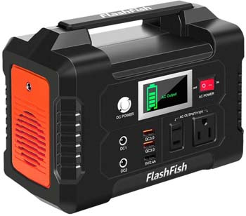 6: FF FLASHFISH 200W Portable Power Station, FlashFish 40800mAh Solar Generator