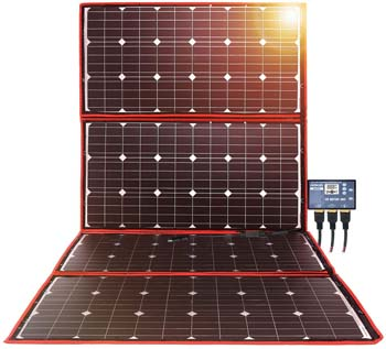 4: DOKIO 300w Solar Panel Kit Mono Portable Flexible Folding